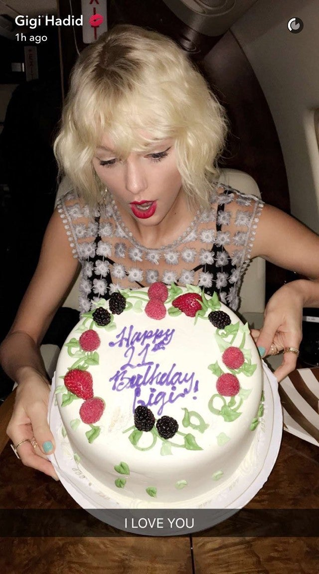 Gigi Hadid Celebrates Her 21st Birthday With Taylor Swift