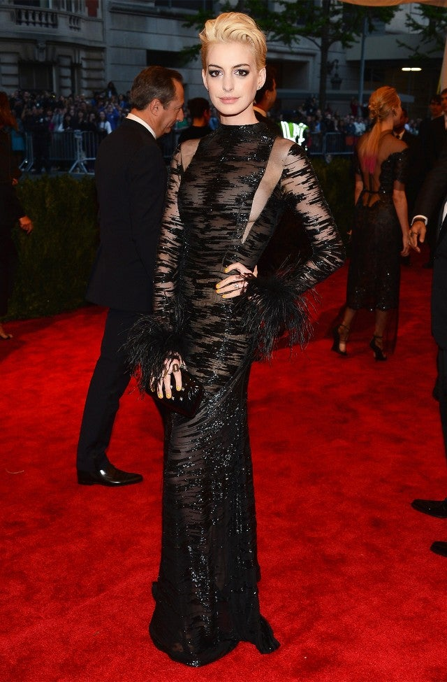 Anne Hathaway at Met Gala 2013