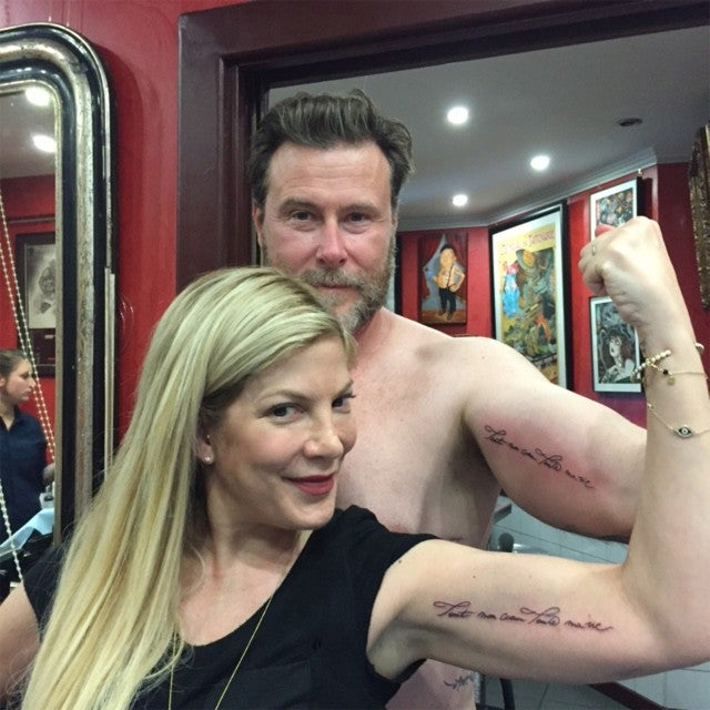 Kansas Weekend Couples Getaway: Tori Spelling And Dean McDermott Get Matching Tattoos For