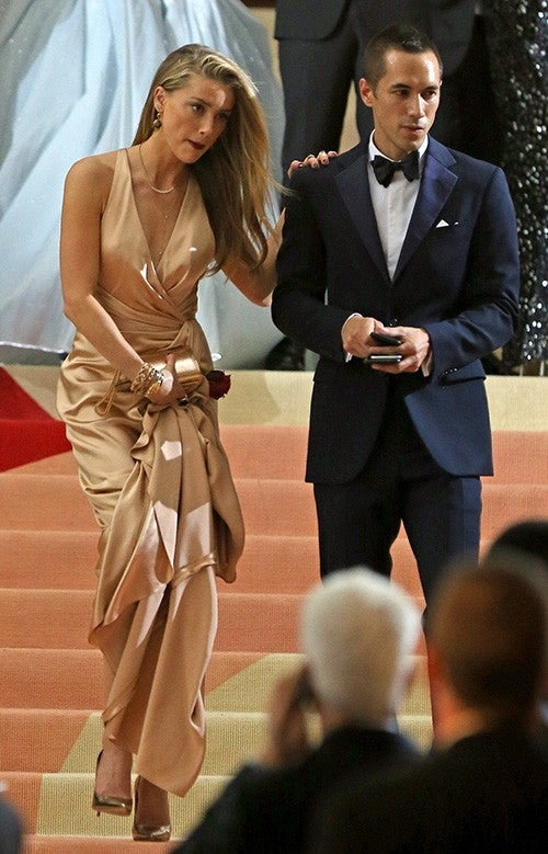 Amber Heard Stunned At The Met Gala Without Husband Johnny Depp