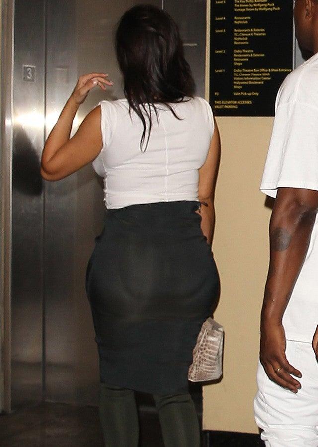 Oops Kim Kardashian Caught Wearing A Butt Pad At Sister