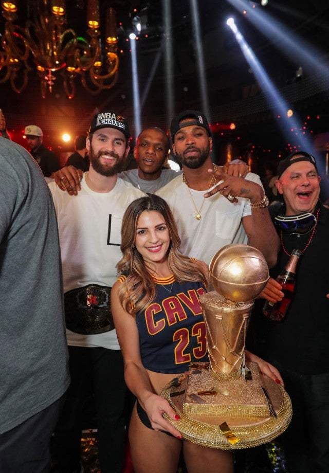 lebron james and the cavaliers celebrate in las vegas