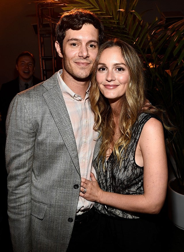 Leighton Meester And Adam Brody Adorably Snuggle Up In