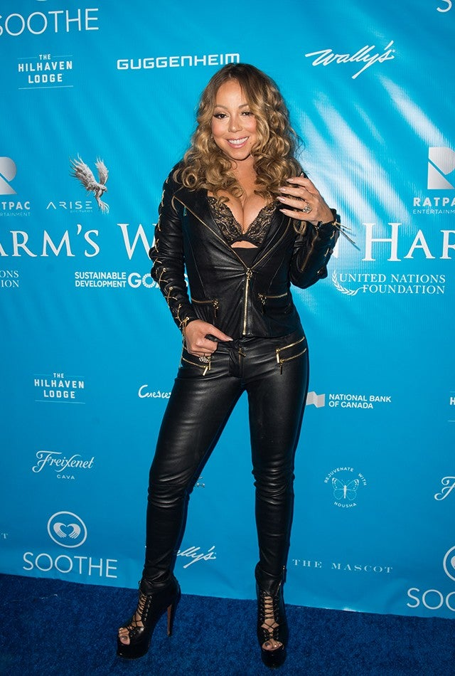 7ea3d47fc1e34 Mariah Carey Is the New Catwoman in All-Leather, Cleavage-Baring ...