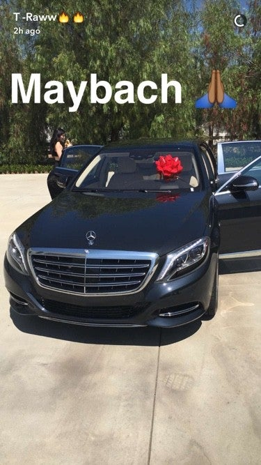 Tyga Surprises Kylie Jenner With a $200,000 Black Maybach for Her
