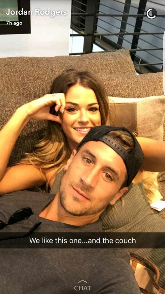 Jojo Fletcher And Jordan Rodgers Snapchat Their Adorably