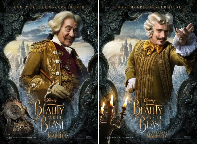 Beauty And The Beast Posters Highlight Lumiere Cogsworth Of