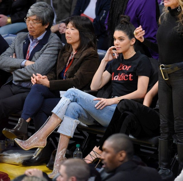 Kendall Los Jenner Rocks at Look Another  Courtside Wild