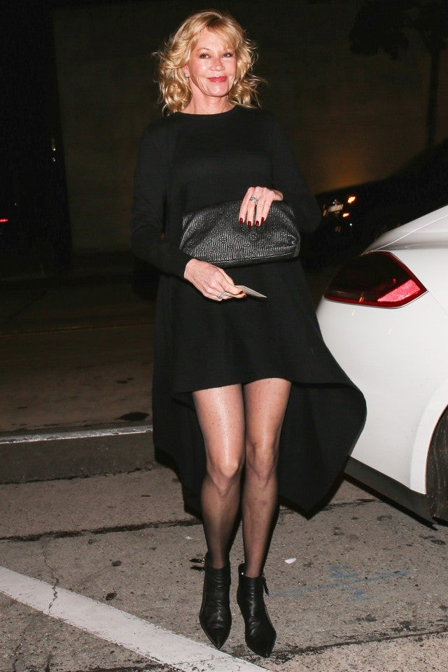 Melanie Griffith Shows Off Crazy Long Legs In Chic Lbd -6639