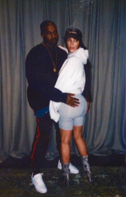Kanye west and kim kardashian butt grab was