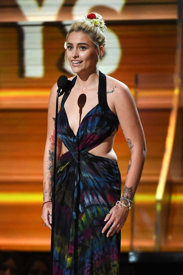 Can You Dye Carpet >> Paris Jackson Co-Designed The Tie-Dyed GRAMMYs Dress She Wore to Present | Entertainment Tonight