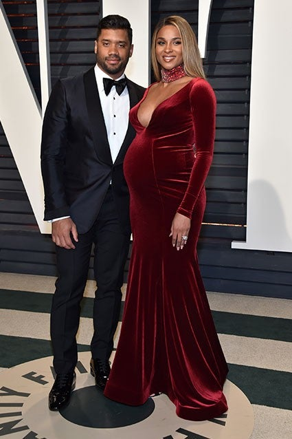 f0b660cb153 ... red velvet gown from Jovani Couture and a thick matching choker. Pascal  Le Segretain Getty Images