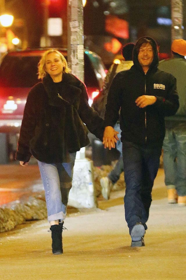 Diane Kruger Amp Norman Reedus Kiss Pack On Pda In Nyc
