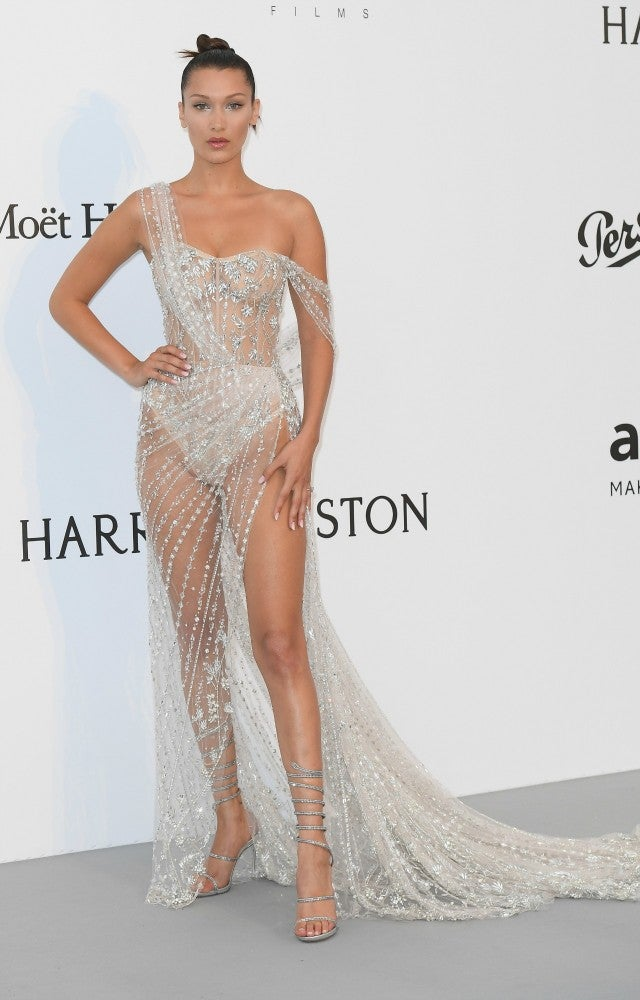 bella hadid wears another naked dress at cannes
