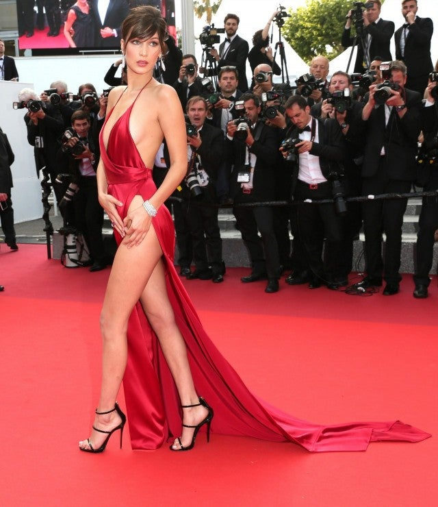 Bella Hadid Wears Another Naked Dress At Cannes See The
