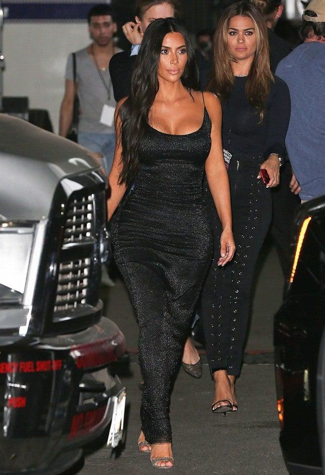 kim kardashian stuns in dazzling tightfitting dress