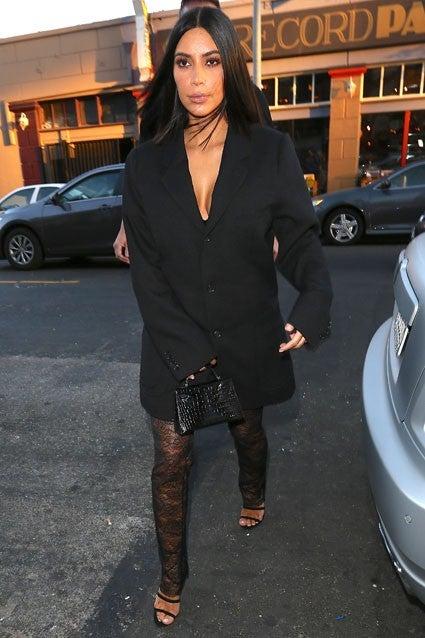 Kim Kardashian Goes Glam With Sexy Blazer And Lace