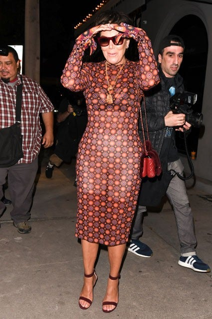 Kris Jenner Flashes Her Undergarments In Sheer Style