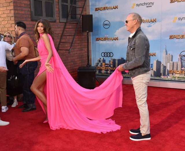 exclusive zendaya stuns in hot pink talks swapping