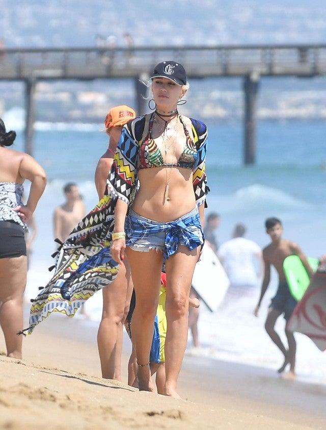 Gwen stephani in a bikini
