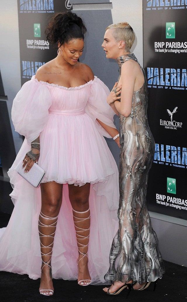 Rihanna Goes Full Futuristic Princess While Cara