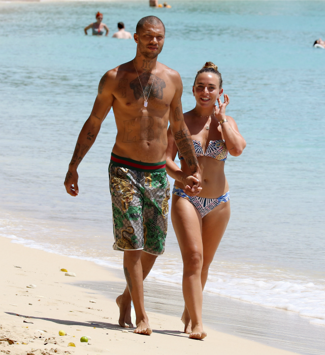 Jeremy Meeks And Chloe Green Bring Their Pda To The Caribbean On Barbados Vacation