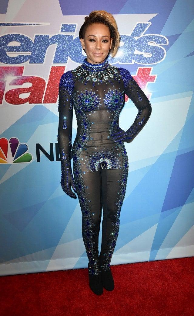 EXCLUSIVE Mel B Goes Sexy in Sheer Superhero Bodysuit