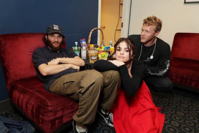 Selena Gomez with Benny Safdie and Josh Safdie