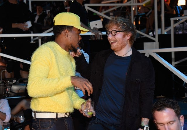 Chance the Rapper and Ed Sheeran