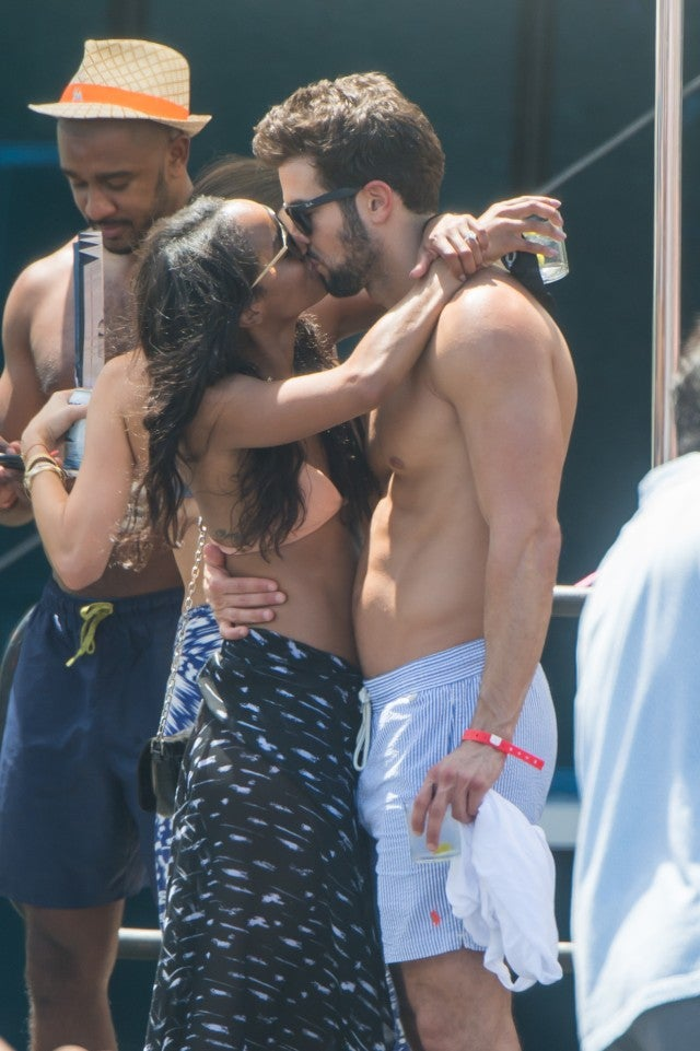 Rachel Lindsay and Bryan Abasolo Kiss in Miami