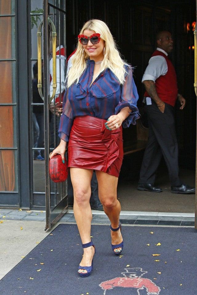 Jessica Simpson Shows Off Her Killer Legs In Sequin