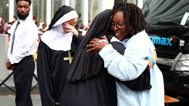 Whoopi Goldberg Greets Sister Act Fans Dressed As Nuns