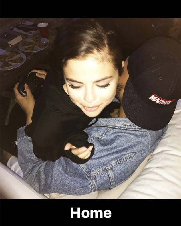 Selena Gomez and The Weeknd cuddle on Instagram