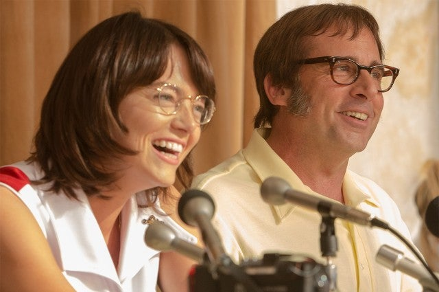 Emma Stone, Steve Carell in 'Battle of the Sexes'