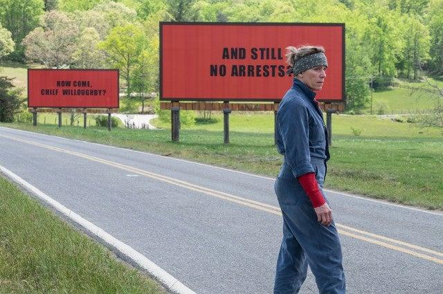 Frances Mc Dormand in'Three Billboards Outside Ebbing Missouri