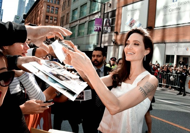 Angelina Jolie at the Toronto International Film Fest