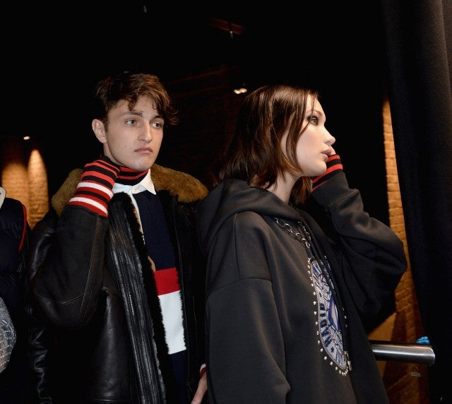 Anwar and Bella Hadid at Tommy Hilfiger Show in London