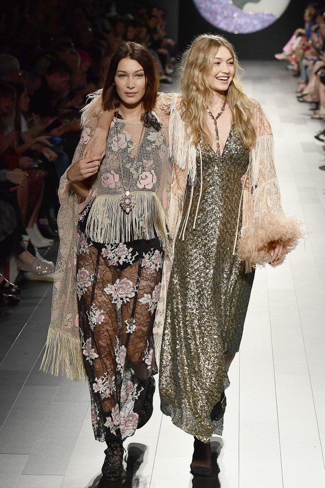 Bella and Gigi Hadid at NYFW