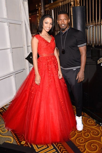 Jamie Foxx and Corinne at NYFW