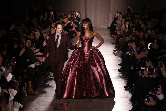 Zac Posen, Naomi Campbell at Runway Show