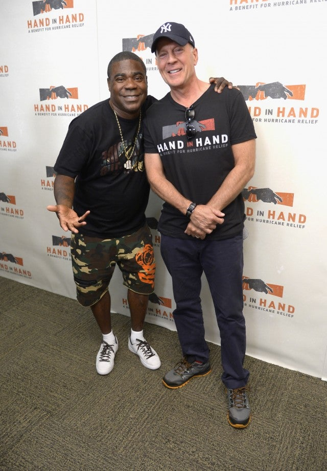 Tracy Morgan and Bruce Willis at Hand in Hand