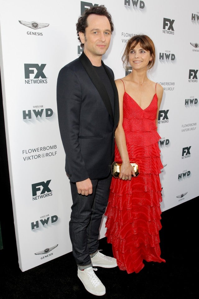 Matthew Rhys and Keri Russell at pre-Emmys party