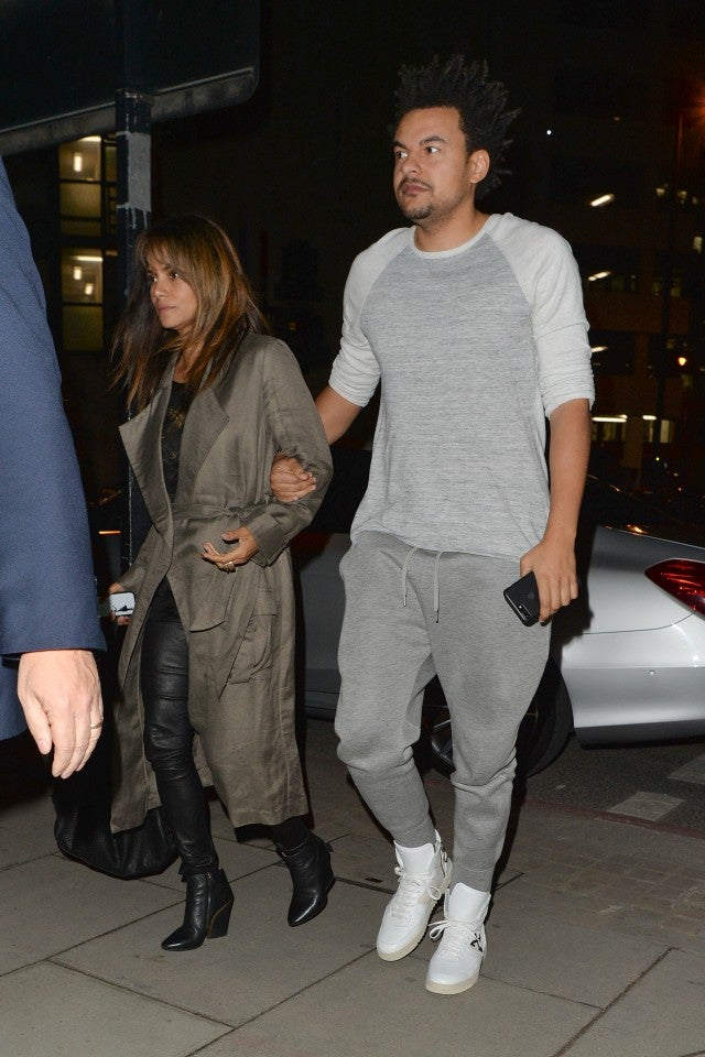 Halle Berry and Alex Da Kid out to dinner in London.