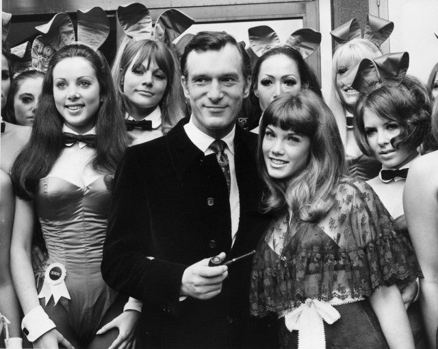 Hugh Hefner at London Playboy Club in 1969