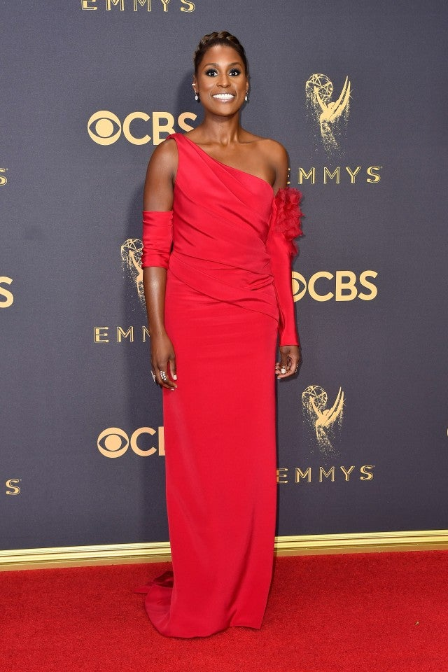 Issa Rae at 2017 Emmys