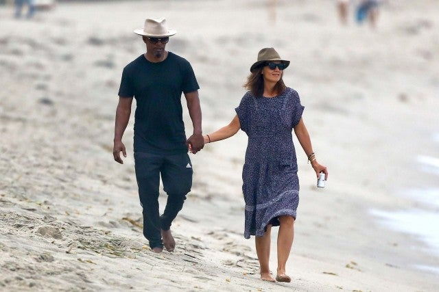 Jamie Foxx and Katie Holmes in Malibu