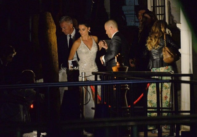 Penelope Cruz and Javier Bardem at Palazzina in Venice