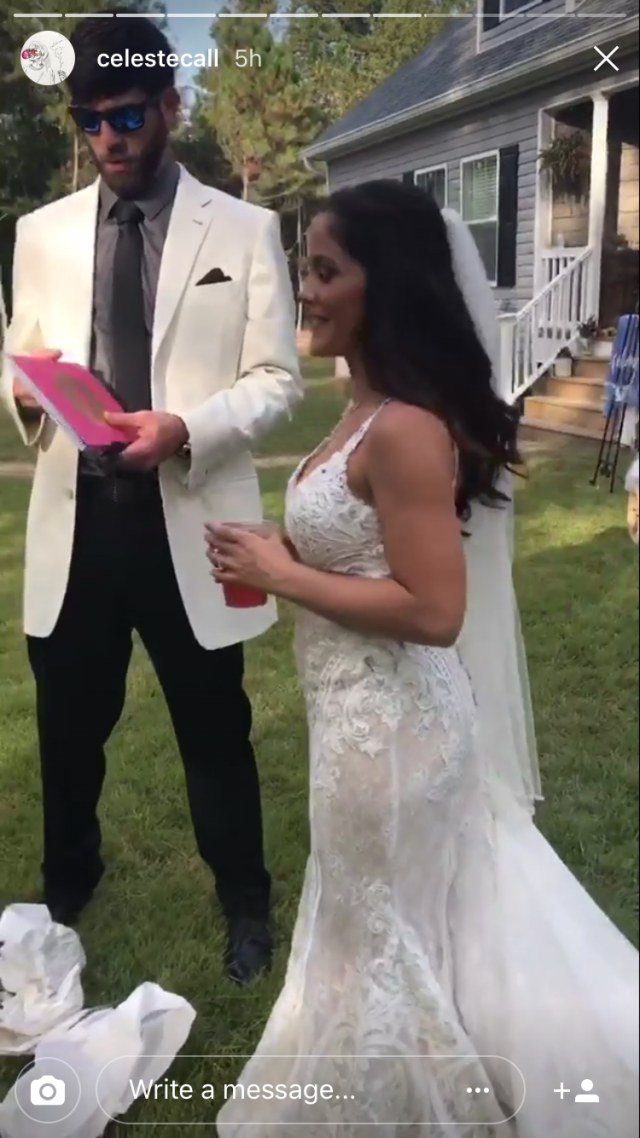 Jenelle Evans Wedding Day