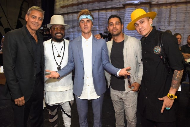 George Clooney, will.i.am, Justin Bieber, Wilmer Valderrama and Taboo