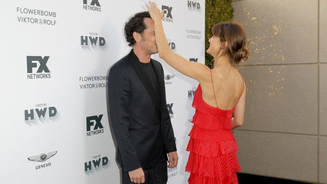 Keri Russell and Matthew Rhys at pre-Emmys party
